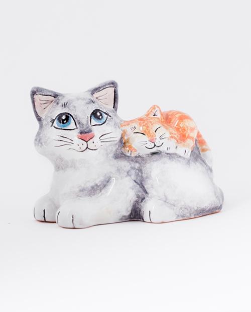 Кошка с котенком| Мастерская Ярославская Майолика